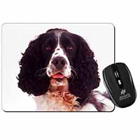 Black and White Springer Spaniel Computer Mouse Mat Birthday Gift Idea