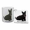 Scottish Terrier Dog-With Love Mug+Coaster Christmas/Birthday Gift Idea