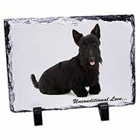 Scottish Terrier Dog-With Love Photo Slate Christmas Gift Idea