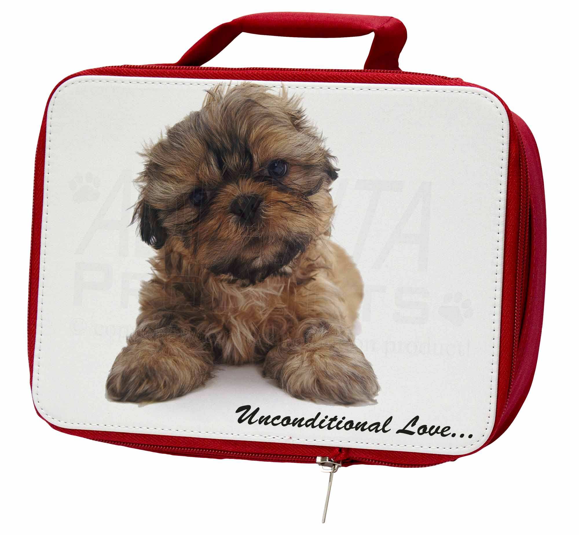 Shih-Tzu Dog-Love Insulated Red Bag, School Lunch Box/Picnic Bag, Red AD-SZ4uLBR 7c9ee3