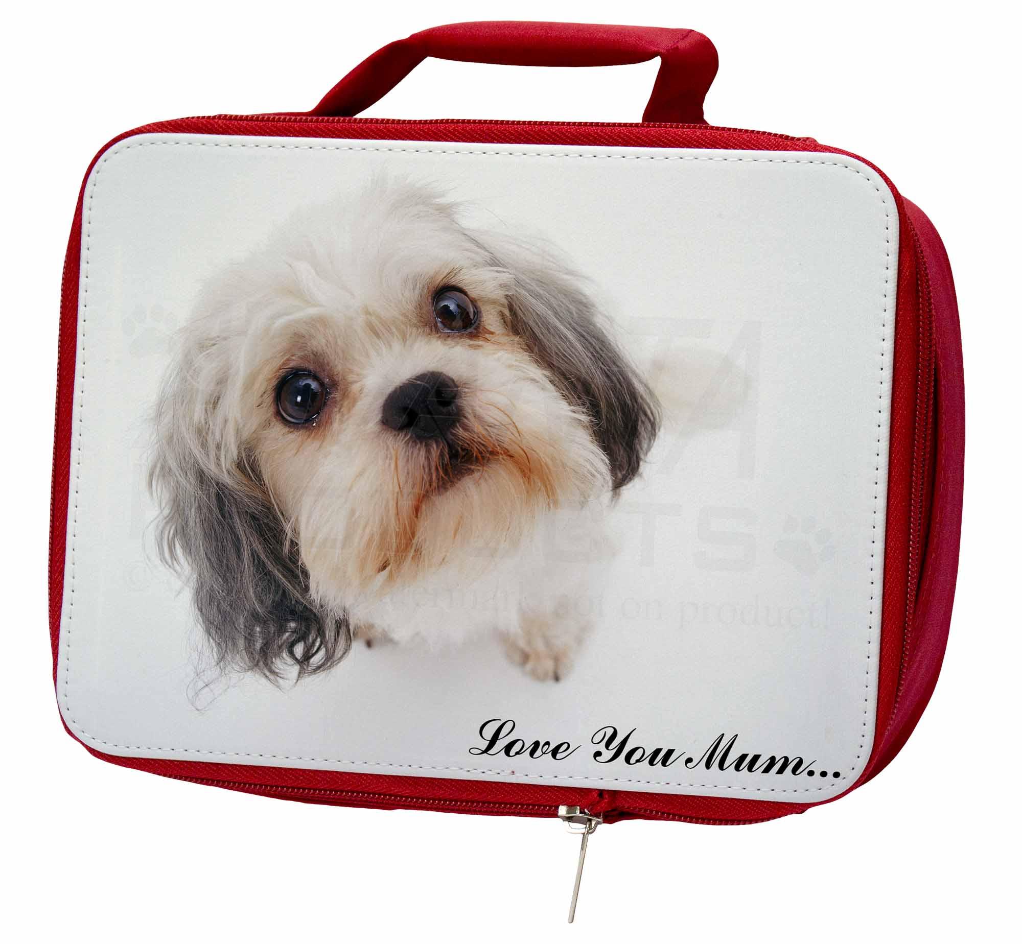 Cute Shih-Tzu Mum' Dog 'Love You Mum' Shih-Tzu Insulated Red School Lunch Box/Pi, AD-SZ5lymLBR cd8219