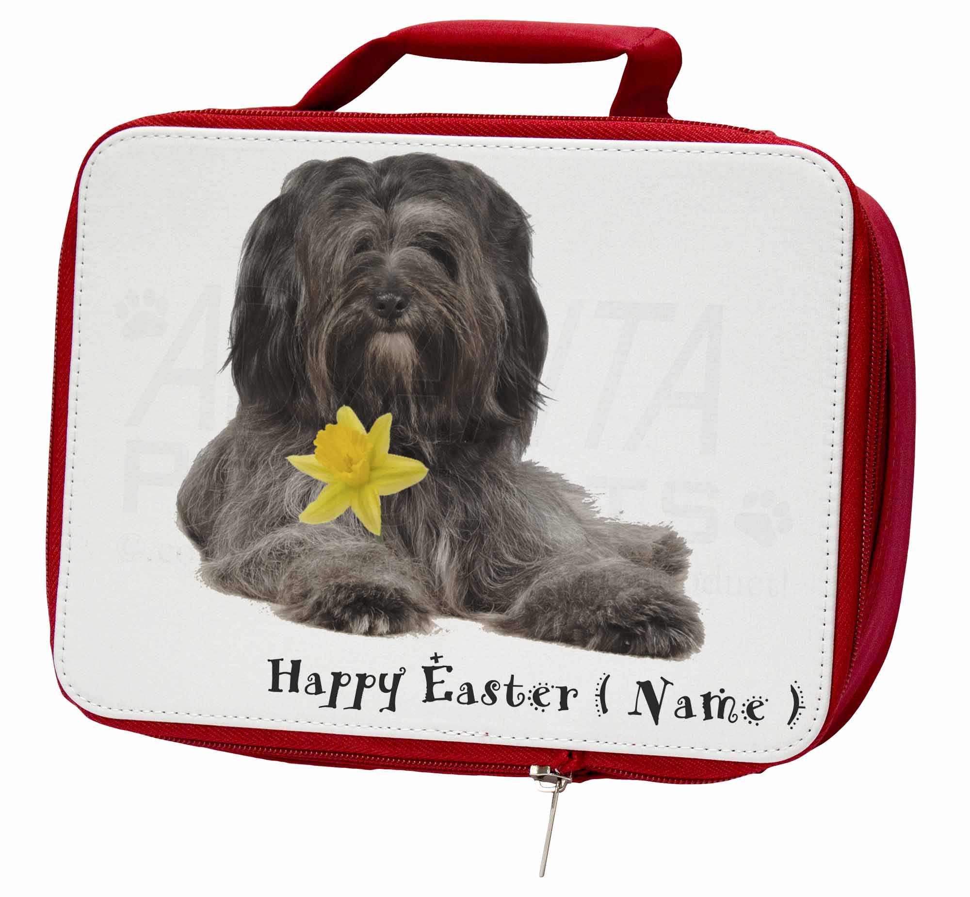 Personalised School Tibetan Terrier Insulated Red School Personalised Lunch Box/Picnic, AD-TT2DA2LBR 1dcc51