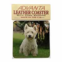 West Highland Terrier Dog Single Leather Photo Coaster Perfect Gift
