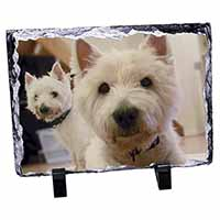 West Highland Terrier Dogs Photo Slate Christmas Gift Ornament
