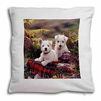 West Highland Terriers Soft Velvet Feel Scatter Cushion