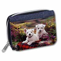 West Highland Terriers Girls/Ladies Denim Purse Wallet Birthday Gift Idea