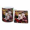 West Highland Terriers Mug+Coaster Christmas/Birthday Gift Idea