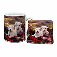 West Highland Terriers Mug+Coaster Birthday Gift Idea
