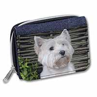 West Highland Terrier Dog Girls/Ladies Denim Purse Wallet Christmas Gift Idea