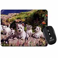 West Highland Terrier Dogs Computer Mouse Mat Birthday Gift Idea