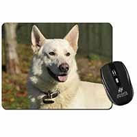 White German Shepherd Computer Mouse Mat Birthday Gift Idea