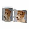 Fox Terrier Dog Mug+Coaster Christmas/Birthday Gift Idea