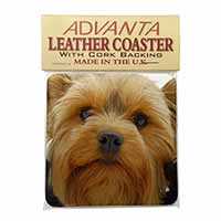 Yorkshire Terrier Dog Single Leather Photo Coaster Perfect Gift
