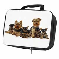 Yorkshire Terrier Dogs Black Insulated School Lunch Box Bag