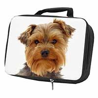 Cute Yorkshire Terrier Dog Black Insulated School Lunch Box Bag