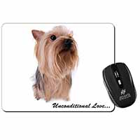 Yorkshire Terrier Dog-with Love Computer Mouse Mat Birthday Gift Idea