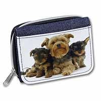 Yorkshire Terrier Dogs Girls/Ladies Denim Purse Wallet Birthday Gift Idea