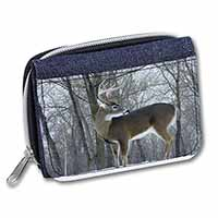Deer Stag in Snow Girls/Ladies Denim Purse Wallet Birthday Gift Idea