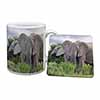 African Elephants Mug+Coaster Christmas/Birthday Gift Idea
