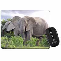 African Elephants Computer Mouse Mat Birthday Gift Idea