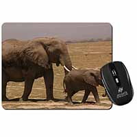 Elephant and Baby Tuskers Computer Mouse Mat Birthday Gift Idea