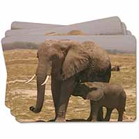 Elephant Feeding Baby Picture Placemats in Gift Box