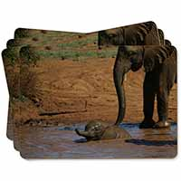 Elephant and Baby Bath Picture Placemats in Gift Box