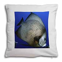 Funky Fish Soft Velvet Feel Cushion Cover With Inner Pillow