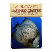 Funky Fish Single Leather Photo Coaster Animal Breed Gift