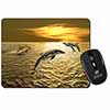 Gold Sea Sunset Dolphins Computer Mouse Mat Christmas Gift Idea