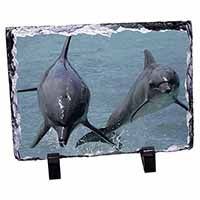 Jumping Dolphins Photo Slate Christmas Gift Ornament
