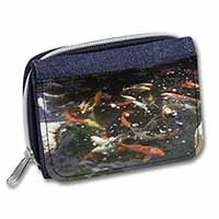 Swimming Koi Fish Girls/Ladies Denim Purse Wallet Birthday Gift Idea