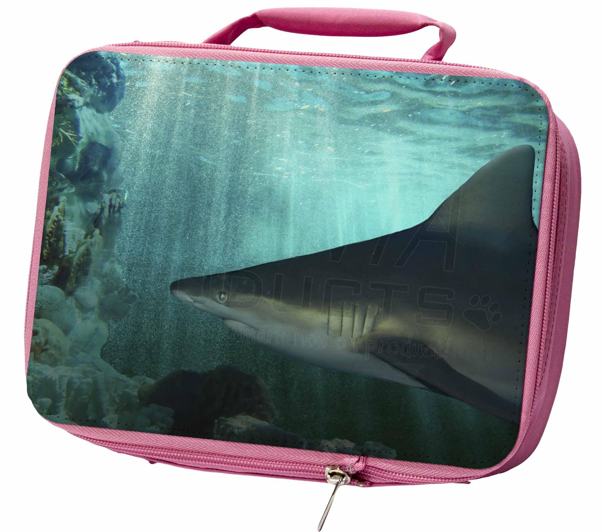 Shark Photo Insulated Pink School Lunch Box Bag, AF-SHA1LBP