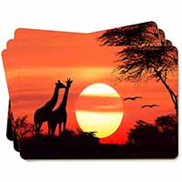 Sunset Giraffes Picture Placemats in Gift Box