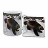 Wolferine in Snow Mug+Coaster Christmas/Birthday Gift Idea