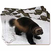 Wolferine in Snow Picture Placemats in Gift Box