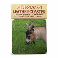Cheeky Goat Single Leather Photo Coaster Perfect Gift