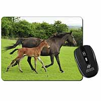 Mare with Newborn Foal Computer Mouse Mat Birthday Gift Idea