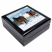 Running Horses in Snow Keepsake/Jewel Box Birthday Gift Idea