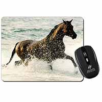 Black Horse in Sea Computer Mouse Mat Birthday Gift Idea