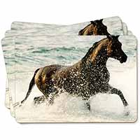 Black Horse in Sea Picture Placemats in Gift Box
