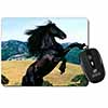 Rearing Black Stallion Computer Mouse Mat Christmas Gift Idea