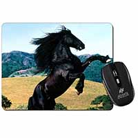 Rearing Black Stallion Computer Mouse Mat Birthday Gift Idea