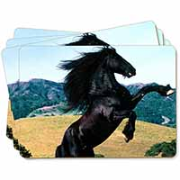 Rearing Black Stallion Picture Placemats in Gift Box