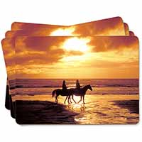 Sunset Horse Riding Picture Placemats in Gift Box