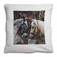 Horses in Love Animal Soft Velvet Feel Scatter Cushion