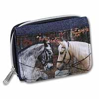 Horses in Love Animal Girls/Ladies Denim Purse Wallet Birthday Gift Idea