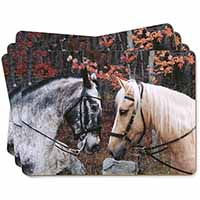 Horses in Love Animal Picture Placemats in Gift Box