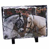 Horses in Love Animal Photo Slate Christmas Gift Idea