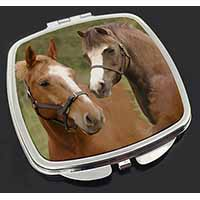 Horse Montage Make-Up Compact Mirror Birthday Gift Idea